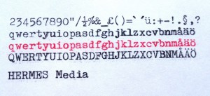 Hermes media typsnitt