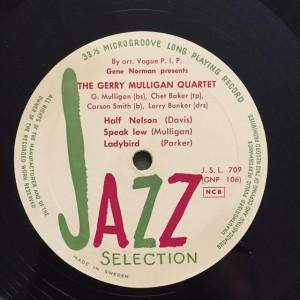Gerry Mulligan Quartet Jazz Selection