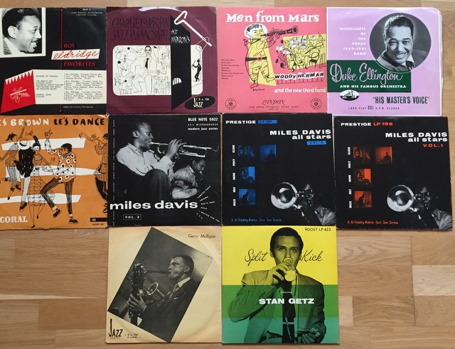 Jazz vinylskivor