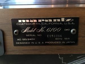 Marantz 6100 6