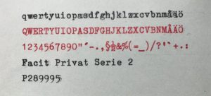 Facit Privat serie 2 typsnitt