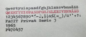 Facit Privat serie 3 typsnitt