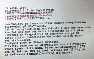 Olivetti Dora typsnitt