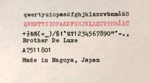Brother de luxe textprov