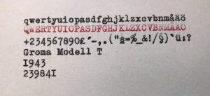 Groma Modell T typsnitt