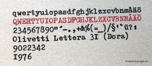 Olivetti dora textprov
