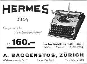 Hermes Baby vintage reklam