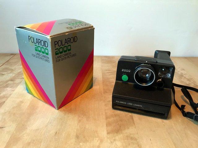 begagnad polaroid land camera 2000 med originalkartong. Black Bedroom Furniture Sets. Home Design Ideas