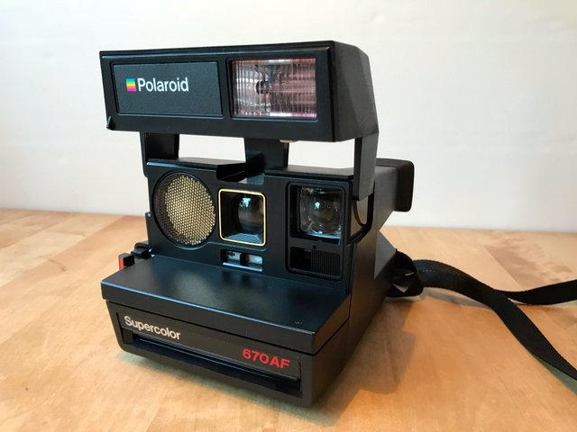 polaroid supercolor 670af 80 tal polaroidkamera. Black Bedroom Furniture Sets. Home Design Ideas