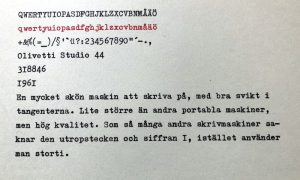 Olivetti Studio 44 typsnitt