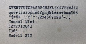 Consul 232 textprov