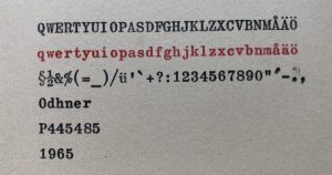 Odhner textprov