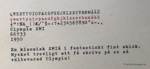 Olympia SM1 textprov