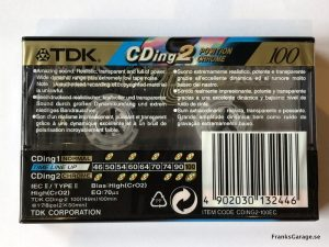 TDK CDing2 100 back